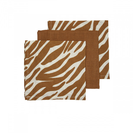 Meyco Monddoek Zebra Camel (3 stuks)