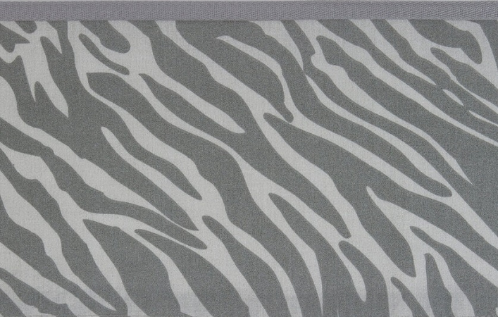 Meyco Ledikantlaken Zebra Grijs<br> 100 x 150 cm