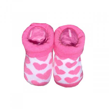 La Petite Couronne Sokjes Hearts Pink Newborn