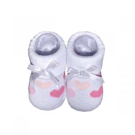 La Petite Couronne Sokjes Hearts White Pink Newborn