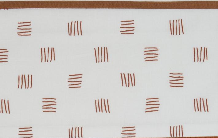 Meyco Wieglaken Block Stripe Camel <br> 75 x 100 cm