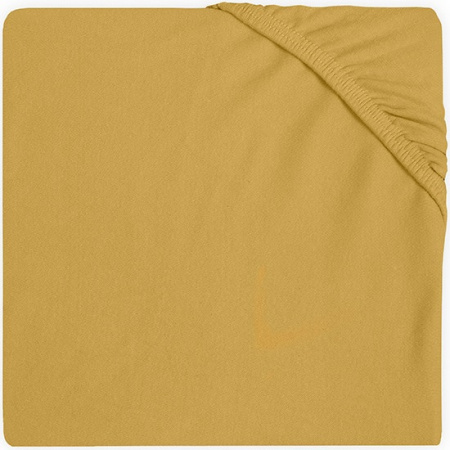 Jollein Hoeslaken Jersey 60 x 120 cm Mustard