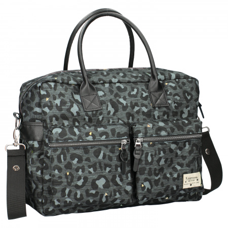 Kidzroom Diaperbag Care Leopard Love Black