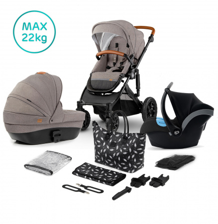 Kinderkraft Combi 3 in 1 PRIME Beige Incl Autostoel/Mommy Bag
