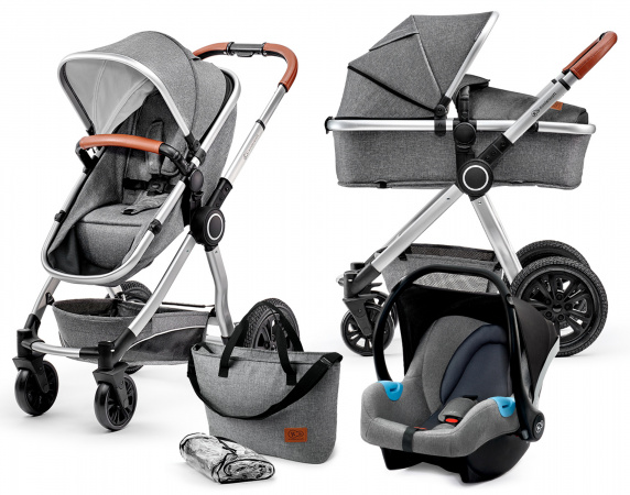 Kinderkraft Multipurpose 3 in 1 VEO Grey Incl Autostoel/Mommy Bag