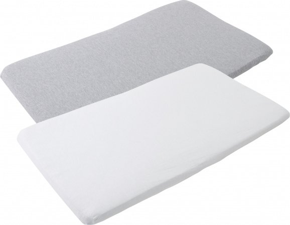 Maxi-Cosi Iris Travel Cot Bed Hoeslaken 2-Pack (White & Grey)