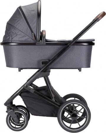 Qute Q-Rider Kinderwagen Zwart Frame/Steelblue