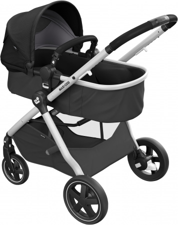Maxi-Cosi Zelia 2 Essential Black Grey Alu Frame + Black Leather Grip