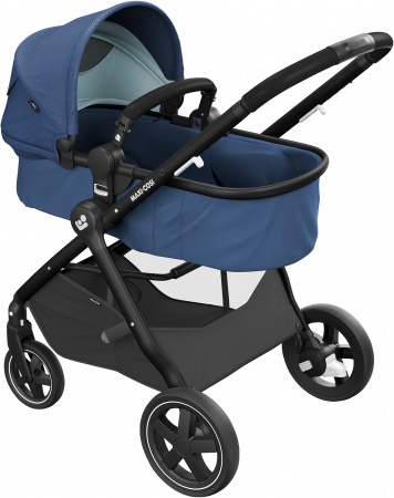 Maxi-Cosi Zelia 2.0 Essential Blue Black Frame + Black Leather Grip