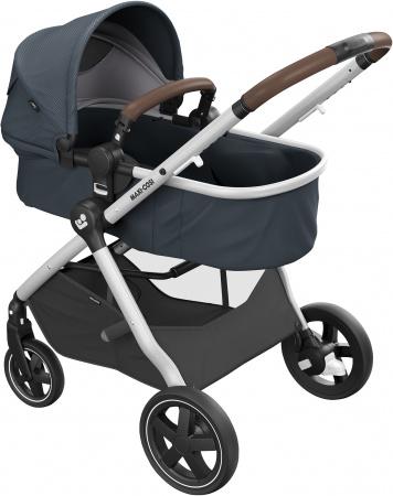 Maxi-Cosi Zelia 2.0 Essential Graphite Grey Alu Frame + Dark Brown Leather Grip