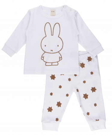 Nijntje Pyjama Stars Offwhite