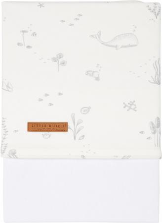 Little Dutch Ledikantlaken Ocean White 110 x 140 cm