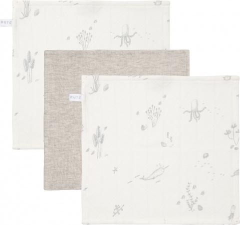 Little Dutch Monddoek Ocean White/Pure Grey/Ocean White 3-Pack