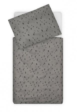 Jollein Dekbedovertrek Spots Storm Grey <br>100 x 140 cm