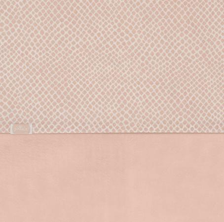 Jollein Wieglaken Snake Pale Pink <br> 75 x 100 cm
