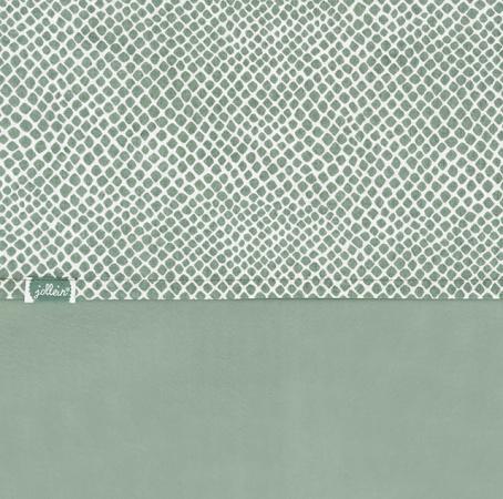Jollein Wieglaken Snake Ash Green <br>  75 x 100 cm