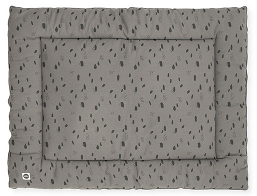 Jollein Boxkleed Spots Storm Grey <br> 80 x 100 cm