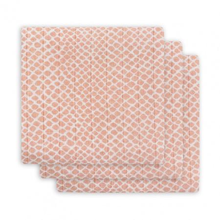 Jollein Hydrofiele Multidoek Small 70x70 Snake Pale Pink 3pck