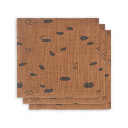 Jollein Hydrofiele Multidoek Small 70x70 Spot Caramel 3pck