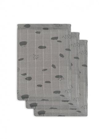 Jollein Washand Spot Storm Grey 3-Pack