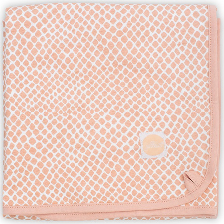Jollein Wiegdeken Jersey Snake Pale Pink <br> 75 x 100 cm
