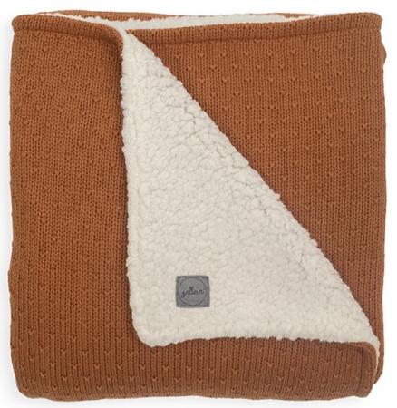 Jollein Wiegdeken Teddy Bliss Knit Caramel <br> 75 x 100 cm