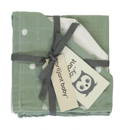 Briljant Monddoek Sunny Green 3-Pack