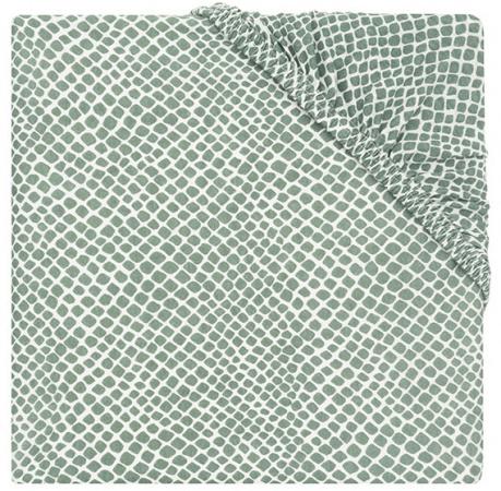 Jollein Wieghoeslaken Jersey <br> 40 x 80 cm  Snake Ash Green