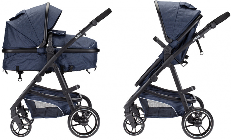 Kinderwagen On Tour 2 in 1 Denim Blue