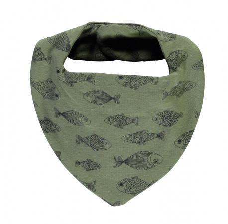 Babylook Bandana Fishes Deep Lichen Green