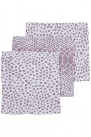 Meyco Monddoek Snake / Cheetah Lilac 3-Pack