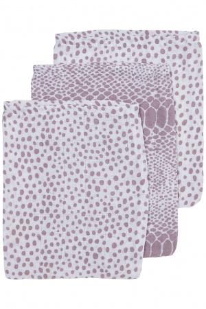 Meyco Washand Snake / Cheetah Lilac 3-Pack