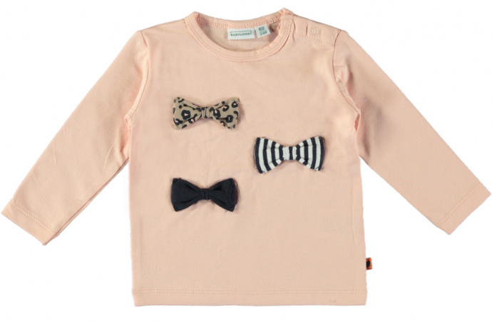 Babylook T-Shirt Bows Evening Sand