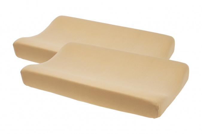 Meyco Aankleedkussenhoes 2pck Basic Jersey Warm Sand