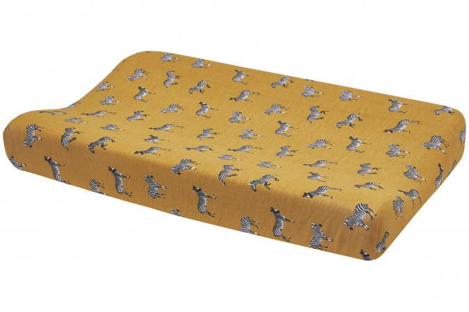 Meyco Aankleedkussenhoes Zebra Animal Honey Gold