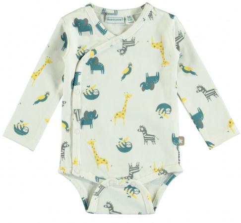 Babylook Romper Overslag Animal Snow White