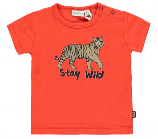 Babylook T-Shirt Korte Mouw Stay Wild Granadine