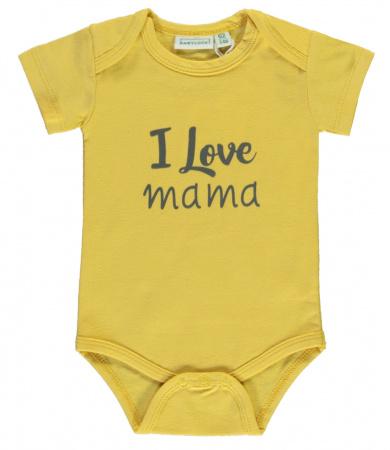 Babylook Romper Korte Mouw I Love Mama Misted Yellow