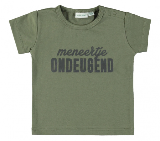 Babylook T-Shirt Korte Mouw Ondeugend Deep Lichen Green