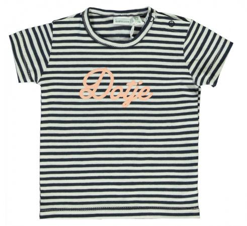 Babylook T-Shirt Korte Mouw Dotje Stripe Total Eclipse