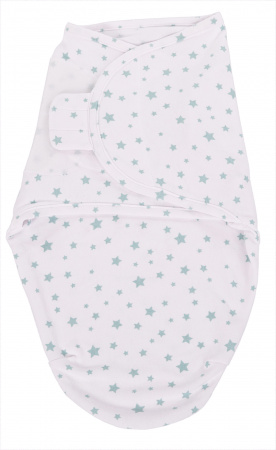 Bo Jungle Baby Wrap Stars Blue Small