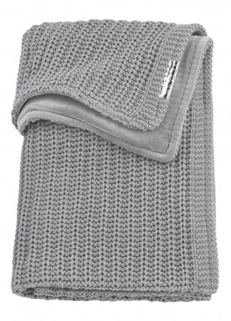 Meyco Wiegdeken Velvet Herringbone Grey<br> 75 x 100 cm
