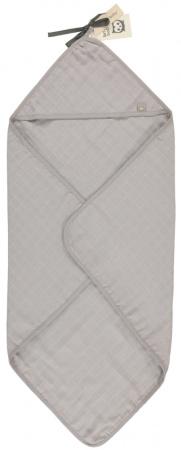 Briljant Badcape Hydrofiel Uni Mid Grey 75x75cm