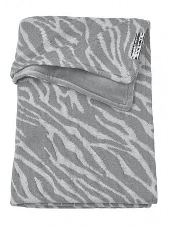 Meyco Ledikantdeken Velvet Zebra Grijs<br> 100 x 150 cm
