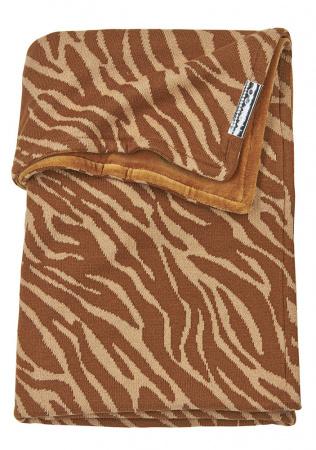 Meyco Ledikantdeken Velvet Zebra Camel<br> 100 x 150 cm