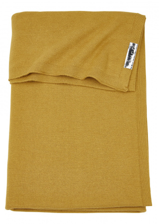 Meyco Ledikantdeken Knit Basic Honey Gold<br> 100 x 150 cm