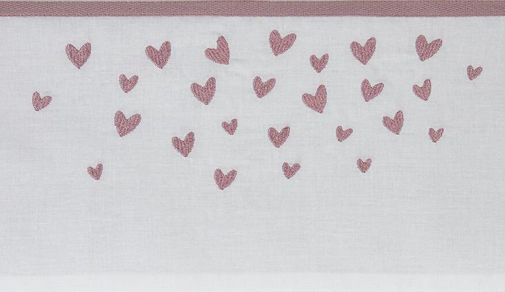 Meyco Ledikantlaken Hearts Lilac<br> 100 x 150 cm