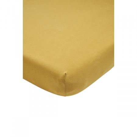 Meyco Ledikanthoeslaken Jersey Honey Gold<br/ >60 x 120 cm