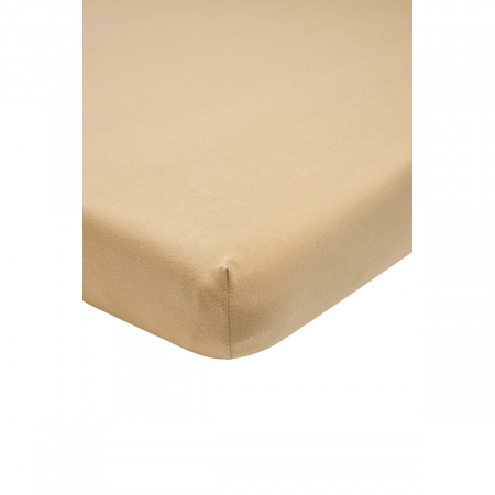 Meyco Juniorhoeslaken Jersey Warm Sand<br/ >70 x 140/150 cm