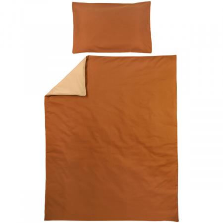 Meyco Ledikantovertrek Uni Camel/Warm Sand<br> 100 x 135 cm